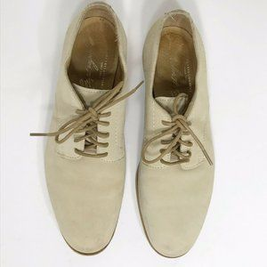 Frye Oxford Jill Lace Up Women's Beige Suede Block